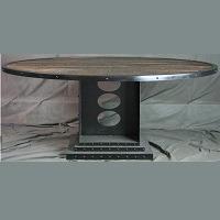 Combine 9 Vintage Industrial Round table Picks