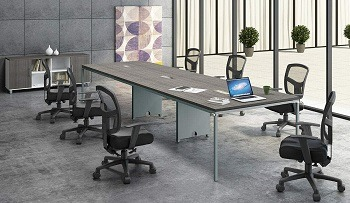 Office Pope Metal Base Modern Table