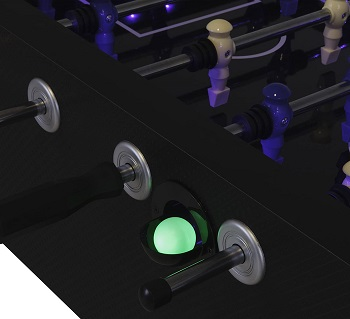 Atomic Azure LED Light Up Foosball Table Review