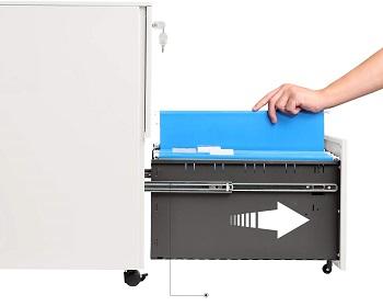 DEVAISE 2-Drawer Mobile File Cabinet