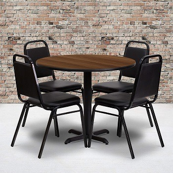 Flash Furniture 36'' Round Walnut Laminate Table Set Review
