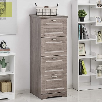 HOMCOM Tall Wooden 4 Drawer review
