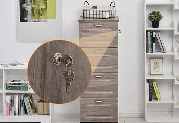 HOMCOM Tall Wooden 4 Drawer