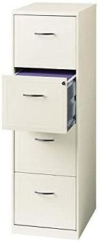 Scranton white file cabinet