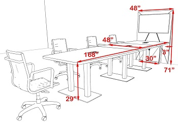 UTM Boat-Shaped Conference table 14 inch Review