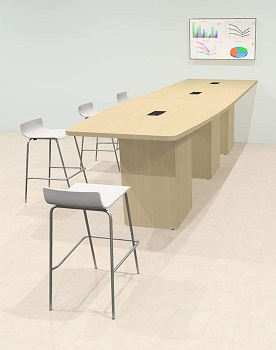 UTM Boat-Shaped Conference table 14 inch