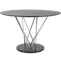 eS round steel and ebony conference table picks