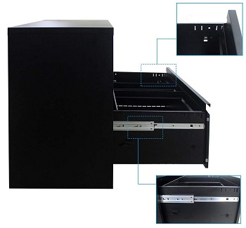 sleerway 3 Drawer File Cabinet
