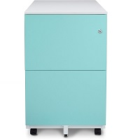 Aurora Mobile File Cabinet 2-Drawer Metal with picks