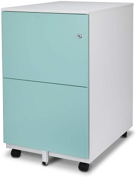 Aurora Mobile File Cabinet 2-Drawer Metal with review