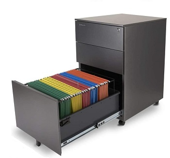 Aurora Modern SOHO Design 3-Drawer Metal