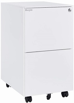 Bonnlo 2-Drawer Rolling File Cabinet with