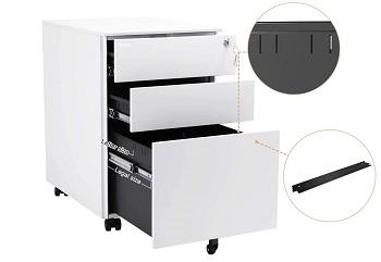 Bonnlo 3 Drawer Metal Mobile File review