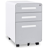 Bonnlo 3 Drawer Mobile File Cabinet with picks
