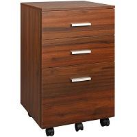 DEVAISE 3 Drawer Mobile File Cabinet, Wood picks