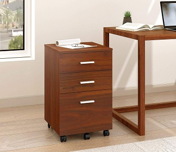 DEVAISE 3 Drawer Mobile File Cabinet, Wood review