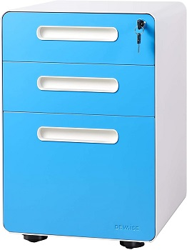 DEVAISE 3-Drawer Mobile File Cabinet with Anti-tilt