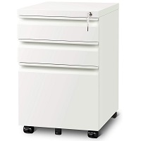 DEVAISE 3 Drawer Mobile File Cabinet with Lock picks