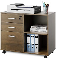 DEVAISE 3-Drawer Wood File Cabinet with Lock picks