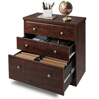 DEVAISE Lateral File Cabinet, 3 Drawer Wood picks