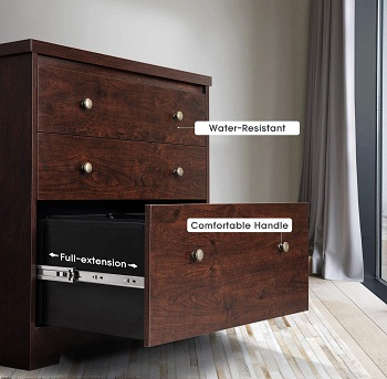 DEVAISE Lateral File Cabinet, 3 Drawer Wood review