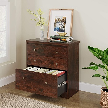 DEVAISE Lateral File Cabinet, 3 Drawer Wood