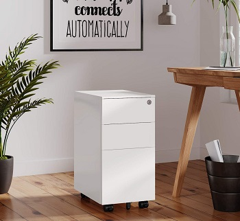 DEVAISE Slim File Cabinet with review