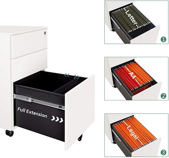 DEVAISE Slim File Cabinet with