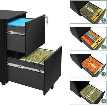 DEVAISE Vertical File Cabinet