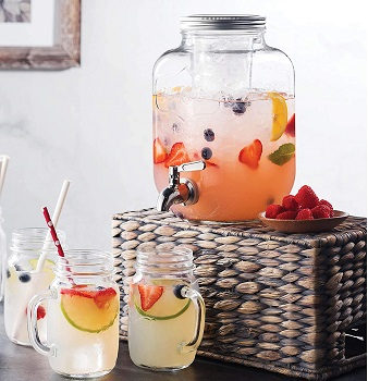 FineDine Glass Beverage Dispenser