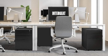 INTERGREAT Black Mobile Filing Cabinet review