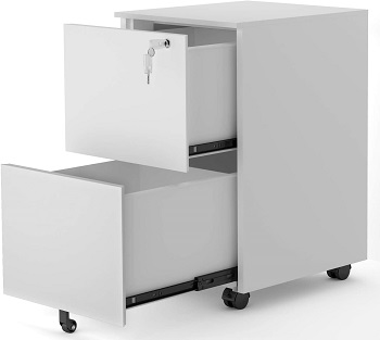 Merax (White) Mobile 2 Drawer review