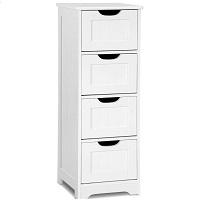 Tangkula Floor Cabinet Wooden Storage picks