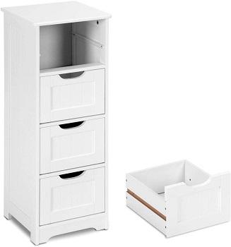 Tangkula Floor Cabinet Wooden Storage