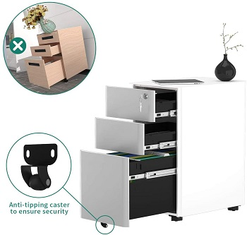YITAHOME 3-Drawer Metal Filing Cabinet O review