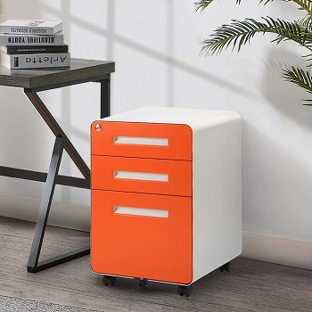 3 Drawer File Cabinet with Lock, INVIE review
