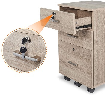 Bonnlo 3-Drawer Rolling Wood review