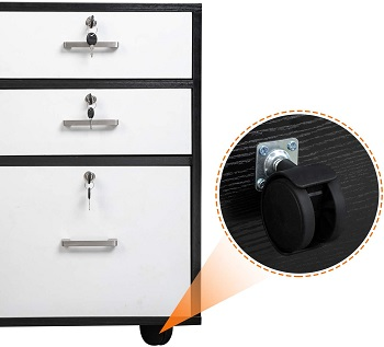 Bonnlo Wood File Cabinet with 3 Drawer review
