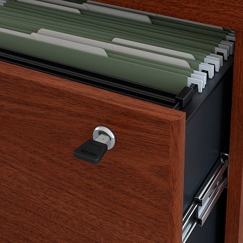 Bush Business Furniture Series C Lateral File Cabinet in Mahogany