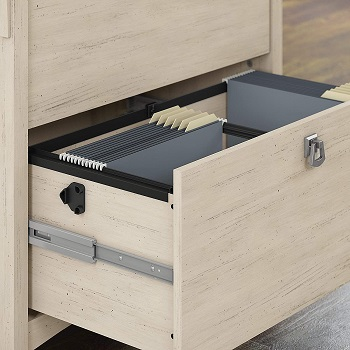 Bush Furniture Salinas Lateral File Cabinet in Antique