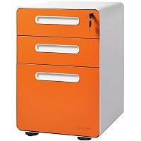DEVAISE 3-Drawer Mobile File Cabinet with Anti-tilt picks