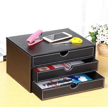 Fanousy Leather Desk Organizer
