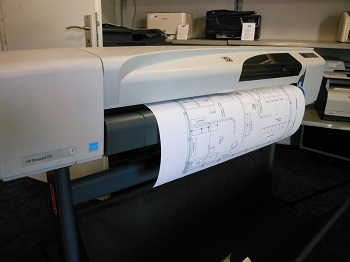 HP DesignJet CH337A Printer