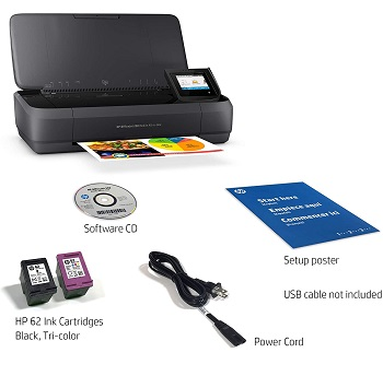 HP OfficeJet 250 Portable Wireless Inkjet Printer