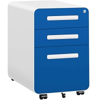 INTERGREAT 3 Drawer Rolling File Cabinet with Lock picks