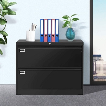 INTERGREAT Black 2 Drawer