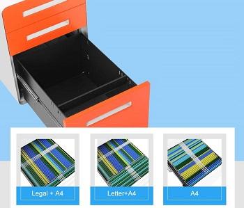 INTERGREAT Locking File Cabinet