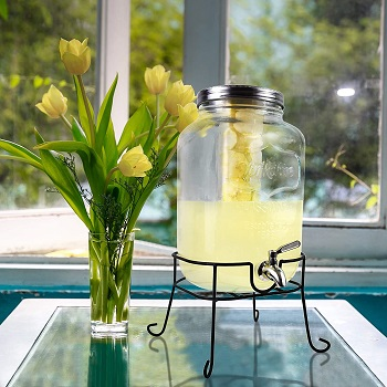 J&A Homes Glass Beverage Dispenser