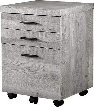 Offex Contemporary Grey Reclaimed Wood
