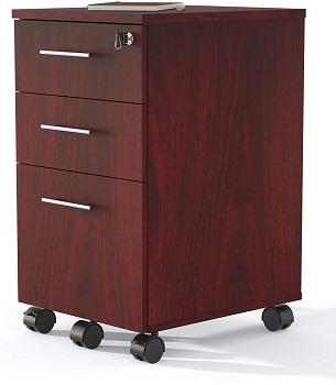 Safco Medina File Cabinet, Mahogany